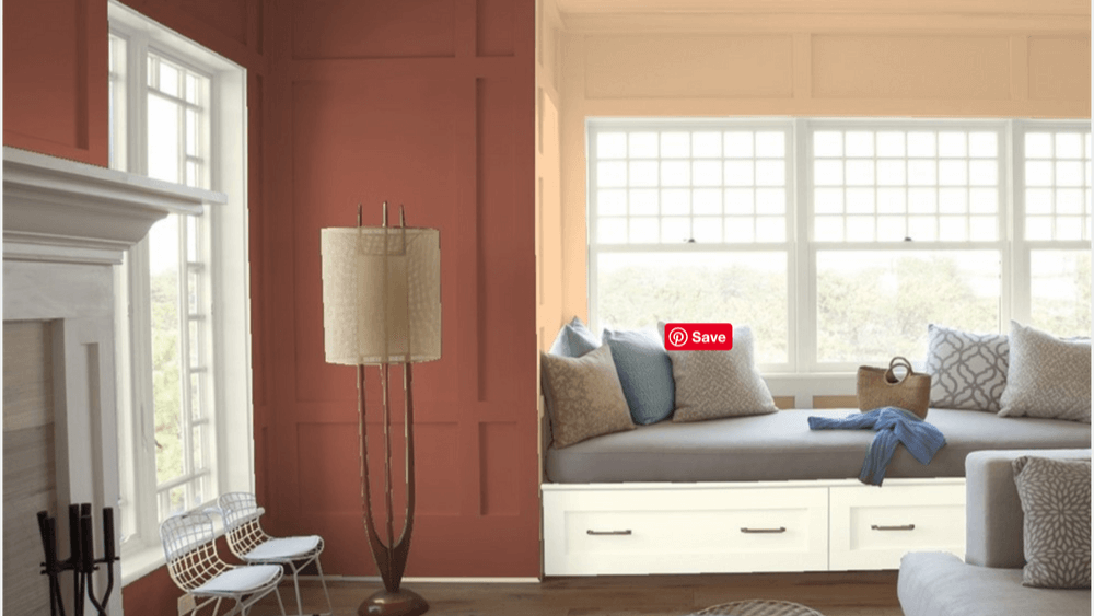Brownberry by Benjamin Moore color in bedroom