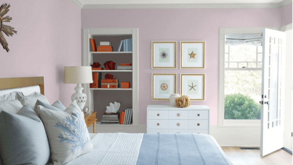 Violetta by Benjamin Moore in bedroom